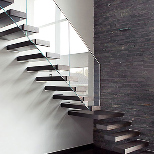 Contemporary Hot Residential Floating Staircase Design