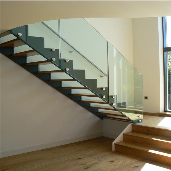 Faddish DIY Portable Stainless Steel Standoff Frameless Glass Railing  Straight Staircase Designs For Residential Indoor