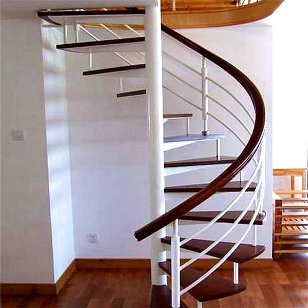 Modern Villa Design Oak Wood Stairs Treads Spiral