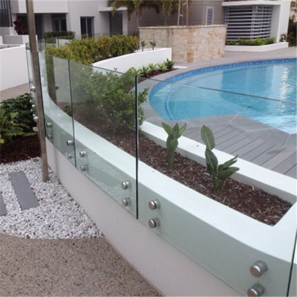Customized Standoff Bracket Frameless Tempered Glass Railing