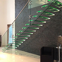 Factory High Quality Customized U/L Shape Or Straight Stairs Anti-slip Floating Staircase Design