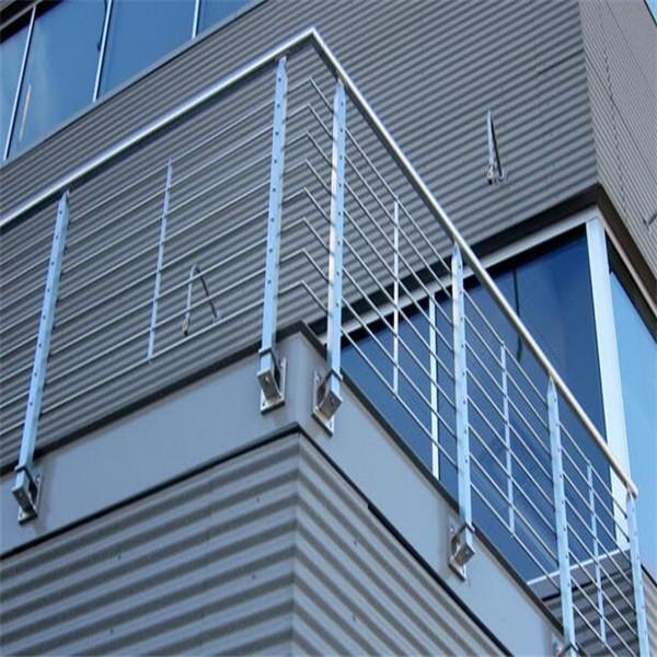 Outdoor Stainless Steel Rod Balustrade Balcony Rod Railing