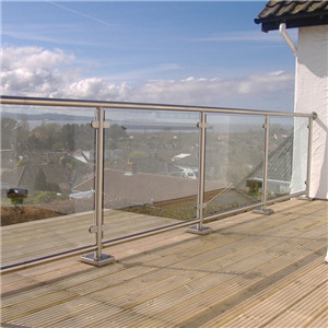 Glass Railing Clamps Post Tempered Glass Deck Railing