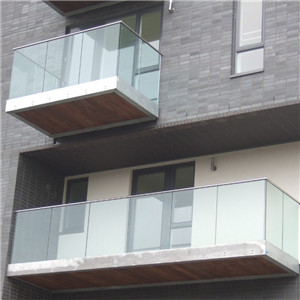 U Channel Aluminium Frameless Glass Railing For Deck&Balcony