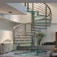 Portable Metal Stairs to Steps/Prefabricated Spiral Staircase With Solid Wood Treads And Center Post
