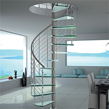 Modern Good Looking Outdoor/Indoor Galvanized Steel Centre Post For Metal Glass Spiral Staircase Design