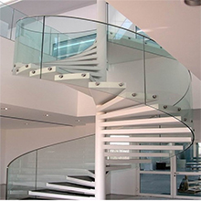 Modern Appearance Elegant Design Solid Wood Stairs Treads Spiral Staircase Prefabricated
