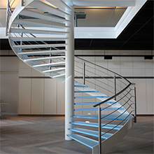 Prefabricated Portable Galvanized Carbon Centre Post LED Stairs Treads for Indoor/Outdoor Spiral Staircase Design